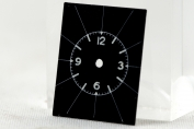 DIAL FOR WRIST WATCH - BLACK - RECTANGULAR - GERMANY - AROUND 1940