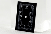 DIAL FOR WRIST WATCH H - BLACK - RECTANGULAR - GERMANY - AROUND 1940