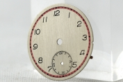 DIAL FOR WRIST WATCH - 2 TONE - SILVER PLATED - ROUND - AROUND 1940