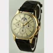 CHRONOGRAPH - UNIVERSAL TRI -COMPAX - around 1945 - 18K ROSÉ GOLD