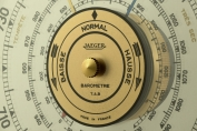 14838 barometer thermometer jaeger frankreich 1950