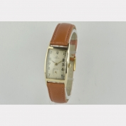 RECTANGULAR WRIST WATCH - OMEGA - GOLD CASE - 585 - 14 K