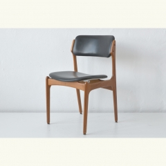 UPHOLSTERED CHAIR - TEAK/LEATHER - DENMARK