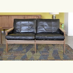 2-SEATER SOFA - OAK - LEATHER - DENMARK