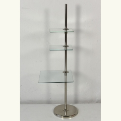 DECORATION STAND - ADJUSTABLE GLASS SHELVES - SQUARE SHAPED - GERMANY - 30s
