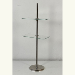 DECORATION STAND - ADJUSTABLE GLASS SHELVES - RECTANGLE SHAPED - GERMANY - 30s